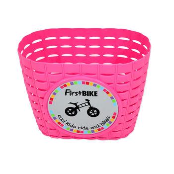 【FirstBike】 兒童滑步車/學步車 原廠車前小籃子(粉)