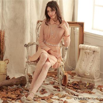 【OMUSES】OL復古連身宴會洋裝28-7450(S-XL)