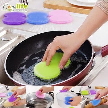 [Conalife]食品級矽膠萬用清潔刷(3入)