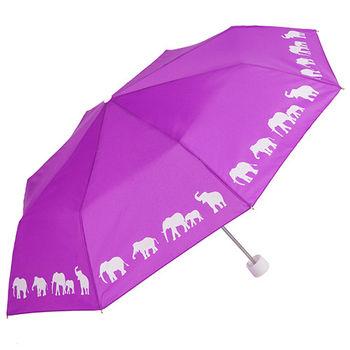 【雨傘詩人Poet of Umbrella】動物剪影折傘-Moon Path 大象-折傘
