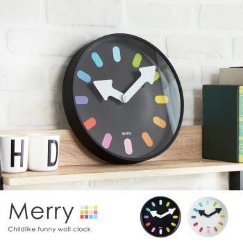 【H&D】 梅莉童趣玩色時鐘/掛鐘-2色