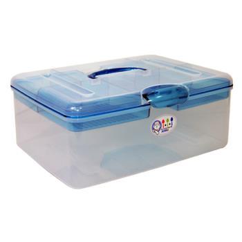 【真心良品】超級吐司A4手提收納箱 (2入)