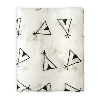 【Muslin tree】嬰兒多功能竹纖維雙層紗布包巾 - 帳棚款