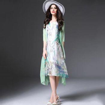 【Jisen】花嫁伊人類棉麻假二件洋裝