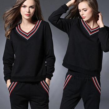 【麗質達人中大碼】上衣+長褲二件式套裝(XL-5XL)