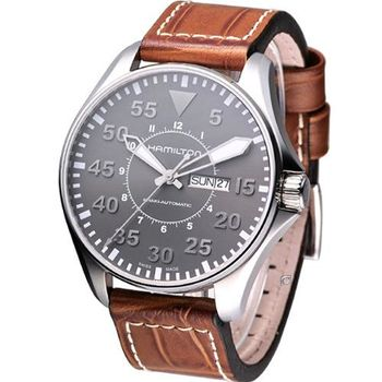 HAMILTON Khaki 航空飛行自動機械腕錶 H64715885