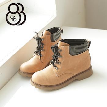 【88%】韓版台灣製 超輕量素面超舒適綁帶 工作靴  五色