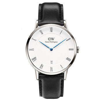 DW Daniel Wellington Dapper 時尚皮革腕錶-銀框/38mm(1121DW)