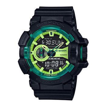 CASIO 卡西歐 G-SHOCK 綠光戰士運動時尚腕錶/51.9mm/GA-400LY-1A