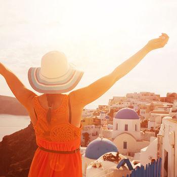 希臘天空之城聖托里尼愛琴海三小島10天