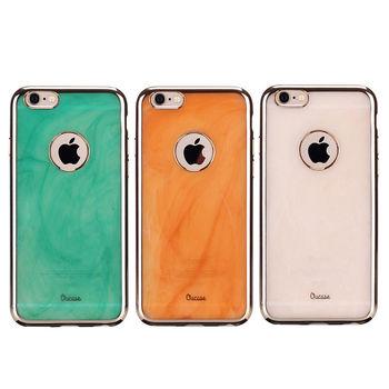 【Oucase】Apple iPhone 6/6S Plus 錦衣電鍍寶石紋保護套