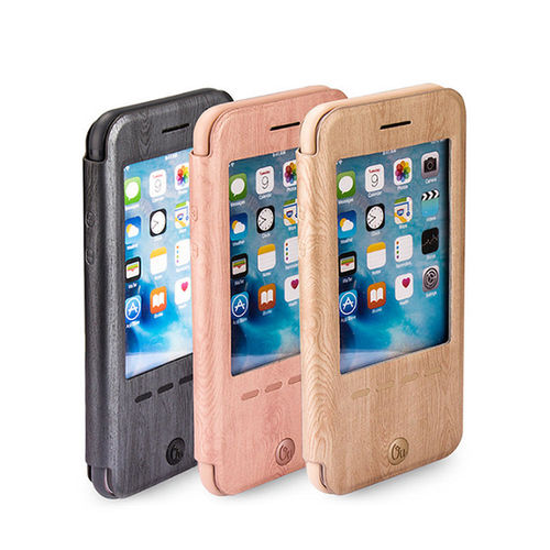 【Oucase】Apple iPhone 6/6S Plus 睿智木紋皮套