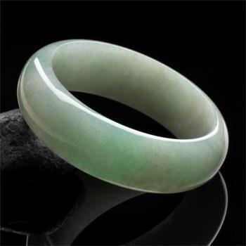 【限量極品】雅紅珠寶-垂柳依依天然綠翡翠手鐲(寬版#16.5)