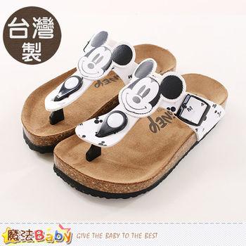 魔法Baby 童鞋 台灣製迪士尼米奇正版兒童涼鞋~sh9905