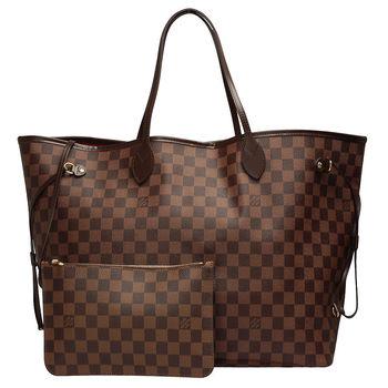 LV N41357 經典棋盤格NEVERFULL GM大型子母肩背購物包