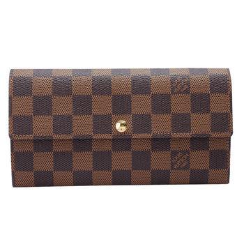 LV N61734 經典棋盤格扣式發財長夾