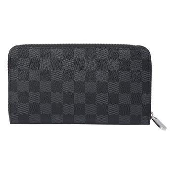 LV N63077 Damier黑灰棋盤格拉鍊式長夾