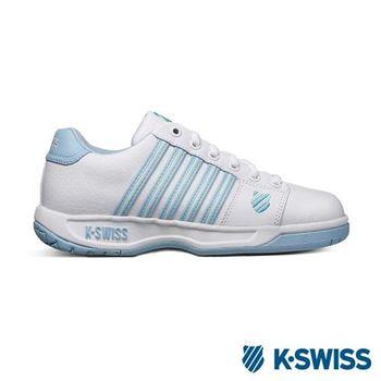 K-Swiss Eadall休閒運動鞋-女-白/水藍/淺黃
