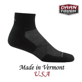 【美國DARN TOUGH】Vertax 1/4 Sock Ultra-LightCushion跑步系列踝襪 黑色-2入