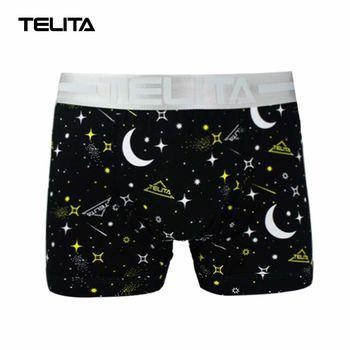 TELITA-男性內褲 星際印花平口褲