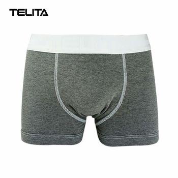 TELITA-男性內褲 素色運動平口褲 亞麻灰