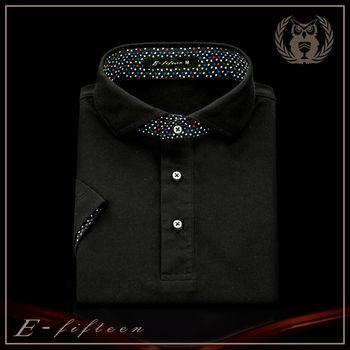 【衣十五 E-fifteen E15】POLO衫-商務系列/星夜黑/吸濕排汗POLO衫  台灣製造