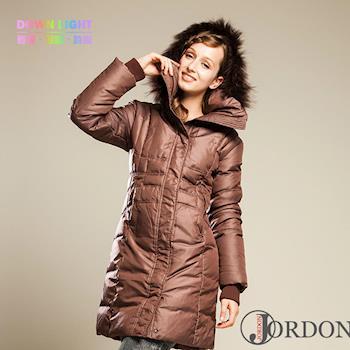 JORDON華麗都會女款長版羽絨大衣5017
