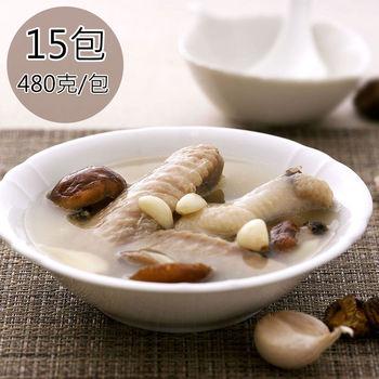 【天和鮮物】海藻雞蒜頭雞湯15包〈480g/包〉