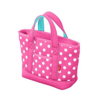 日本 CB Japan 水玉點點系列可洗可拆保冷托特手提袋4L 四色 - 玫瑰粉