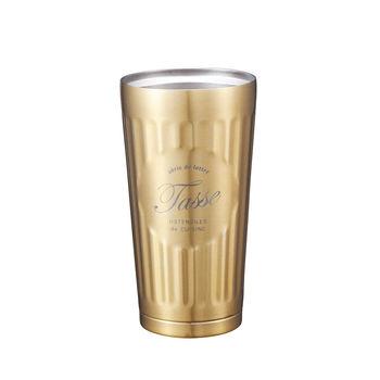 日本 CB Japan 巴黎系列不銹鋼雙層保溫保冷杯375ml - 香檳金