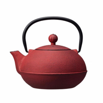 日本 CB Japan TEKKI系列鑄鐵煮茶壺0.9L - 火(紅)