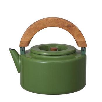 日本 CB Japan 北歐系列琺瑯原木泡茶兩用壺 四色 - 森林綠