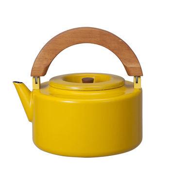 日本 CB Japan 北歐系列琺瑯原木泡茶兩用壺 四色 - 芥末黃