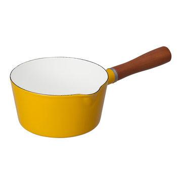 日本 CB Japan 琺瑯原木單柄牛奶鍋 四色 - 芥末黃