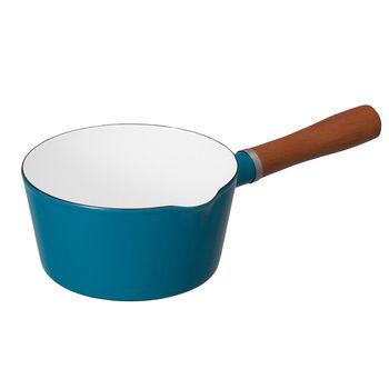 日本 CB Japan 琺瑯原木單柄牛奶鍋 四色 - 土耳其藍