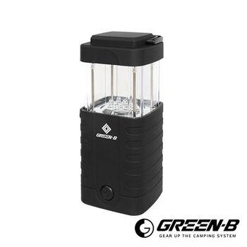 GREEN-B 12LED超省電便攜伸縮野營燈 帳篷燈 黑色