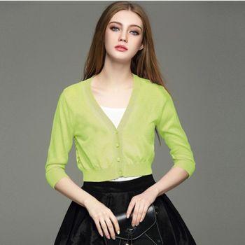 預購【伊凡莎時尚】法式美背蕾絲百搭拼接針織小外套(S-L)