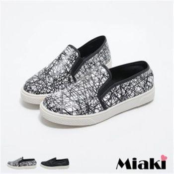 【Miaki】MIT 休閒鞋韓時尚街頭平底懶人包鞋(白色 / 黑色)