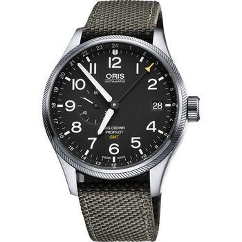 Oris Big Crown ProPilot GMT小秒針機械錶-黑x軍綠/45mm 0174877104164-0752217FC