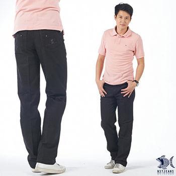 【NST Jeans】390(5343) 雙重 拼接 咖啡黑 牛仔休閒長褲(中腰)