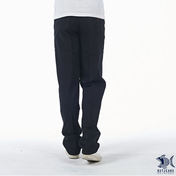 【NST Jeans】390(5421) 獨特外袋 微彈  深黑牛仔長褲(中腰)