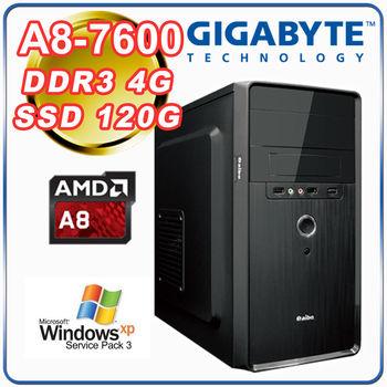 |技嘉A68H平台|小資首選 A8-7600四核 4G記憶體 120G固態硬碟 超值文書機種