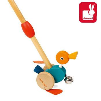 法國Janod創意兒童智玩-平衡學步車-搖擺鴨