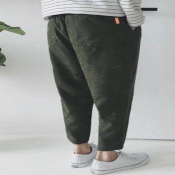 【協貿國際】日系哈倫褲潮男潑墨設計休閒褲單件