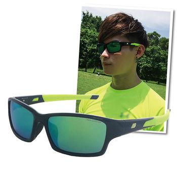 【New Balance】運動太陽眼鏡-水銀綠鏡面/螢光鏡腳(NB8040-C09)