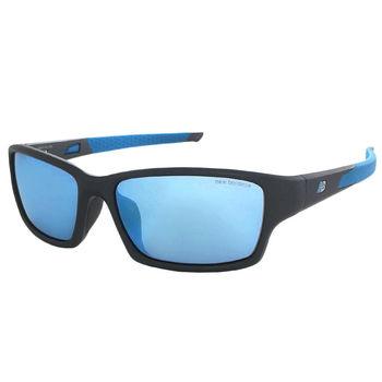 【New Balance】運動太陽眼鏡-水銀藍鏡面-防滑鏡腳設計(NB8040-03)