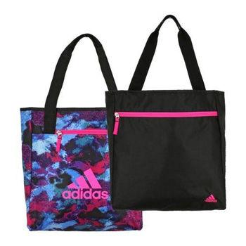 【Adidas】2016時尚Studio雙面紫彩黑色手提包(預購)