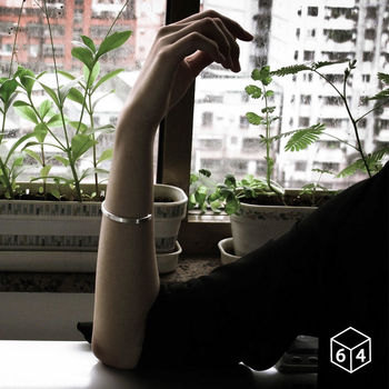 ART64 手環/手鐲 品牌C型手環 (霧面-小) 純銀手環