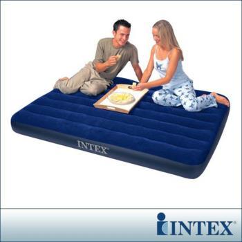 【INTEX】雙人植絨充氣床墊-寬137cm(68758)