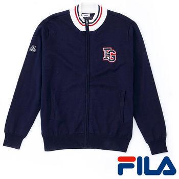 FILA男仕義式風情線衫外套(學院藍)1SWP-5203-NV